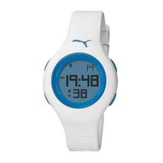 Puma Women's White/ Blue Sports Watch