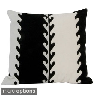 Black and White Velveteen Pillow (Peru)