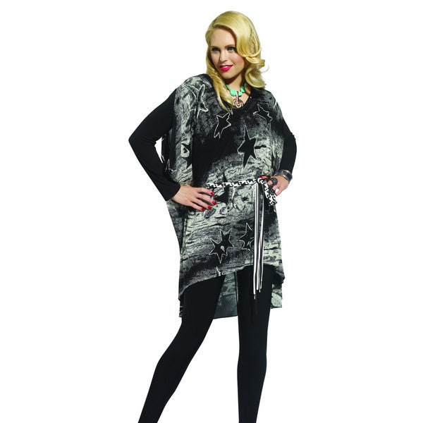 Donna by Donna Vinci Women's Three-Piece Tunic Set with Star Print