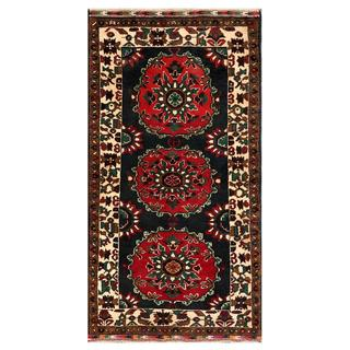 Herat Oriental Afghan Hand-knotted Tribal Balouchi Wool Area Rug (3'2 x 6')