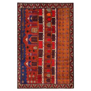 Herat Oriental Afghan Hand-knotted Tribal Balouchi Wool Area Rug (4'3 x 6'4)