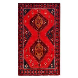 Herat Oriental Afghan Hand-knotted Tribal Balouchi Wool Area Rug (3'6 x 6'10)