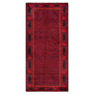 Herat Oriental Afghan Hand-knotted Tribal Balouchi Wool Area Rug (3'3 x 6'11)
