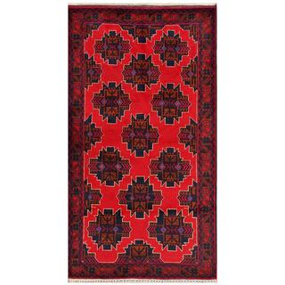Handmade One-of-a-Kind Balouchi Wool Rug (Afghanistan) - 3'6 x 6'6