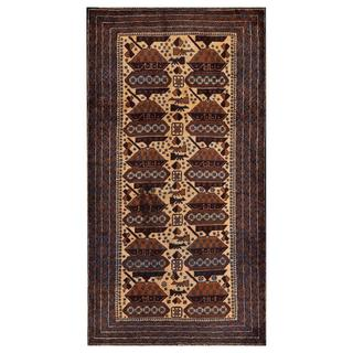 Herat Oriental Afghan Hand-knotted Tribal Balouchi Wool Area Rug (3'6 x 6'7)
