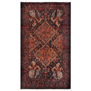 Herat Oriental Afghan Hand-knotted Tribal Balouchi Wool Area Rug (3'9 x 6'6)