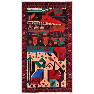 Handmade Balouchi Wool Rug (Afghanistan) - 3'6 x 6'4