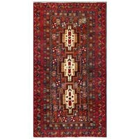 Herat Oriental Afghan Hand-knotted Tribal Balouchi Wool Area Rug (3'7 x 6'8) - 3'7 x 6'8