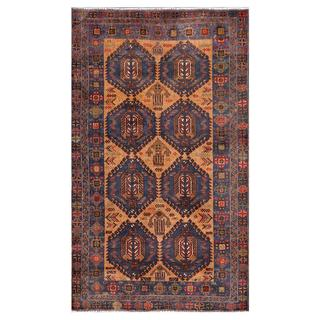 Herat Oriental Afghan Hand-knotted Tribal Balouchi Wool Area Rug (3'8 x 6'2)