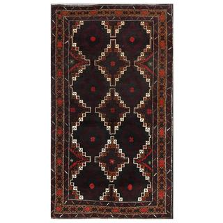Herat Oriental Afghan Hand-knotted Tribal Balouchi Wool Area Rug (3'6 x 6')