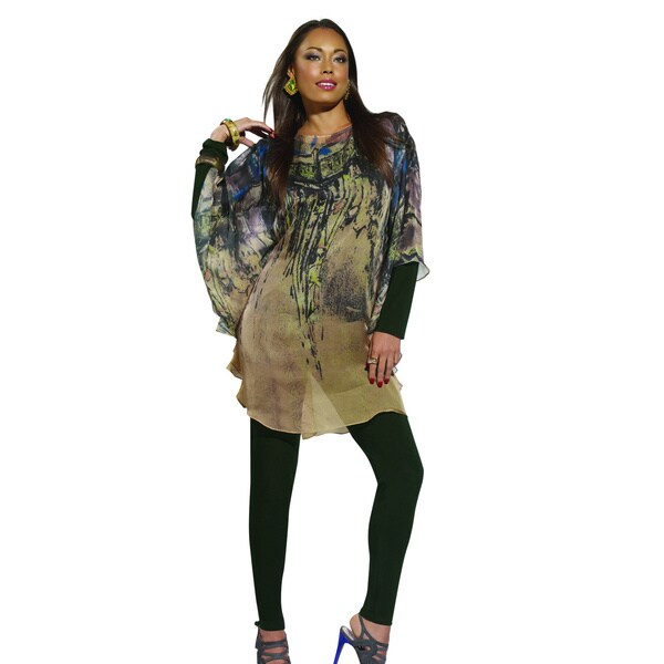 Donna by Donna Vinci Women's Three-Piece Tunic Set with Abstract Print