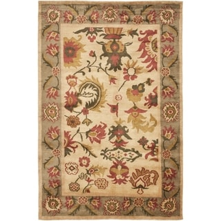 Safavieh Hand-knotted Ancient Weave Ivory/ Sage Wool Rug (8' x 10')