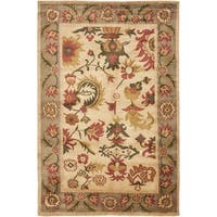 Safavieh Hand-knotted Ancient Weave Ivory/ Sage Wool Rug - 8' x 10'