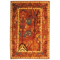 Safavieh Hand-knotted Ancient Weave Rust Wool Rug - 9' x 12'
