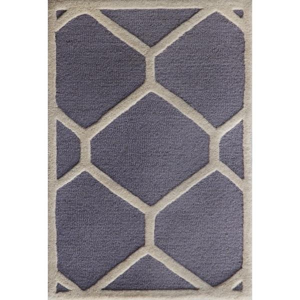 Safavieh Handmade Moroccan Cambridge Silver/ Ivory Wool Rug - 2' x 3'