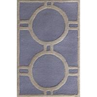 Safavieh Handmade Moroccan Cambridge Contemporary Light Blue/ Ivory Wool Rug - 2'6 x 4'