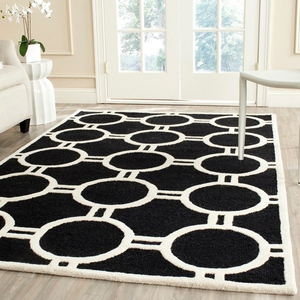 Safavieh Handmade Moroccan Cambridge Black/ Ivory Soft Wool Rug - 9' x 12'