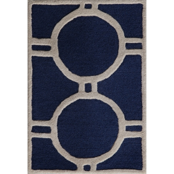 Safavieh Cambridge Navy/ Ivory Handmade Moroccan Wool Accent Rug (2' x 3')