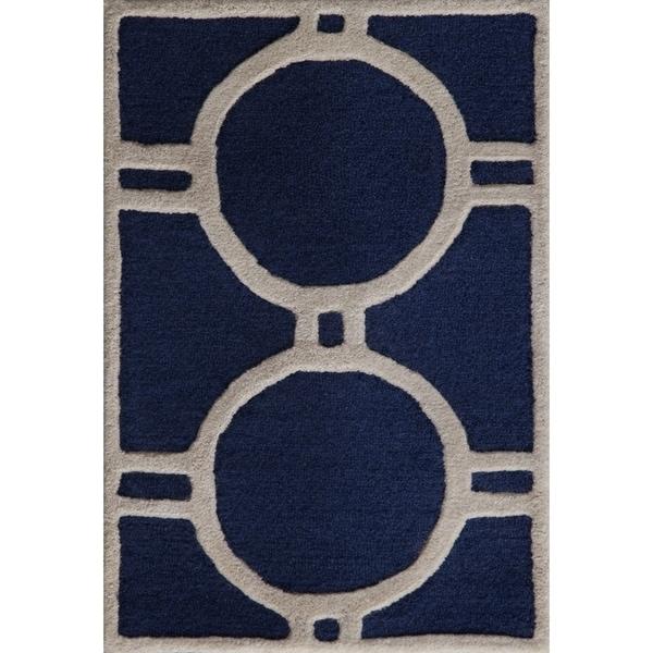 Safavieh Cambridge Navy/ Ivory Handmade Moroccan Wool Accent Rug (2' x 3') - 2' x 3'