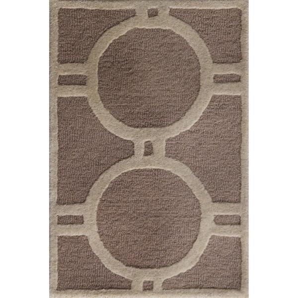 Safavieh Contemporary Handmade Moroccan Cambridge Beige/ Ivory Wool Rug (2'6 x 4')