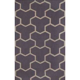 Safavieh Handmade Moroccan Cambridge Silver/ Ivory Wool Rug with High/ Low Construction (5' x 8')