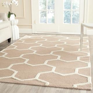 Safavieh Handmade Moroccan Cambridge Geometric-pattern Beige/ Ivory Wool Rug (9' x 12')