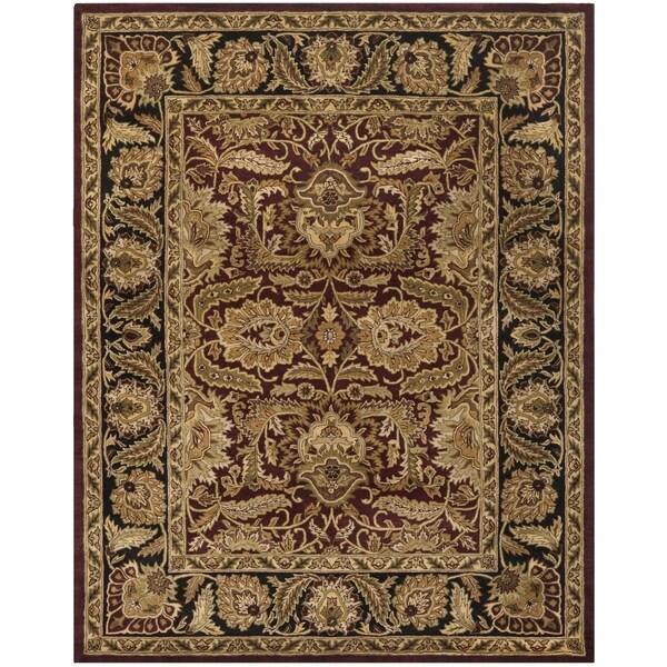 Safavieh Handmade Classic Burgundy Black Wool Rug 6 X 9