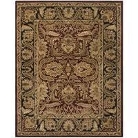 Safavieh Handmade Classic Burgundy/ Black Wool Rug - 6' x 9'
