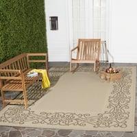 Safavieh Ocean Natural/ Brown Indoor/ Outdoor Rug - 7'10 Square