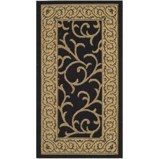 Safavieh Indoor/ Outdoor Courtyard Black/ Natural Rug (2' x 3'7)