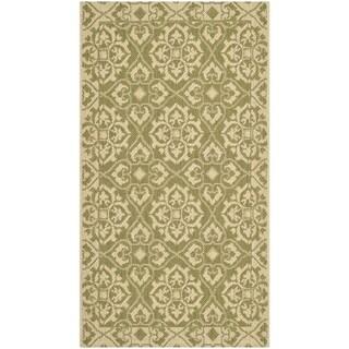 Safavieh Courtyard Elegance Green/ Cream Indoor/ Outdoor Rug (2' x 3'7)