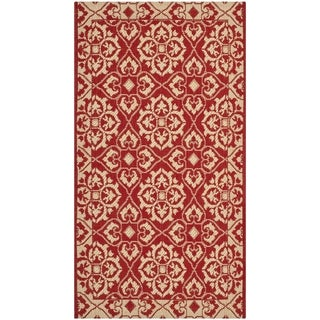 Safavieh Courtyard Elegance Red/ Cream Indoor/ Outdoor Rug - 2' x 3'7