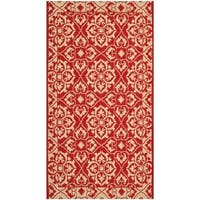 Safavieh Courtyard Elegance Red/ Cream Indoor/ Outdoor Rug - 2' x 3'-7""