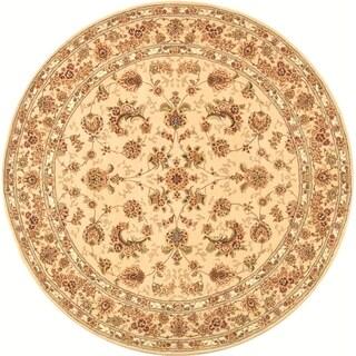 Safavieh Handmade Persian Court Beige/ Beige Wool/ Silk Rug (8' Round)