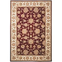 Safavieh Handmade Persian Court Red/ Ivory Wool/ Silk Rug - 6' x 9'
