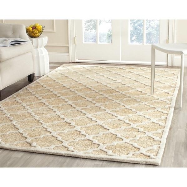 Safavieh Handmade Precious Beige Geometric Polyester/ Wool Rug - 8' x 10'