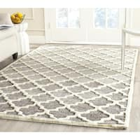 Safavieh Porcello Glam Damask Grey Ivory Rug 5 3 X 7 7
