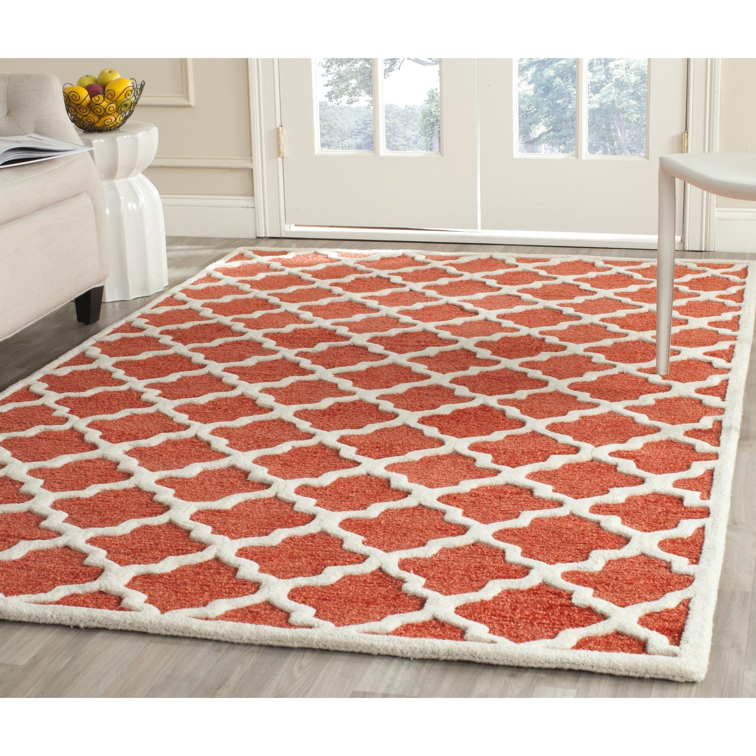 Safavieh Handmade Precious Rose Polyester/ Wool Rug (8' x...
