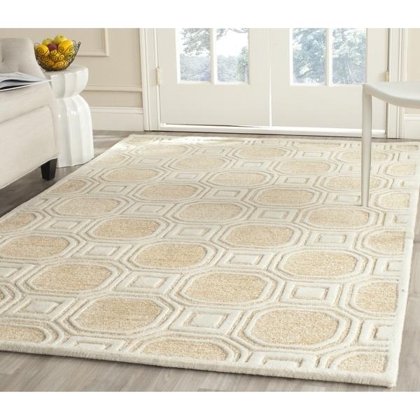 Safavieh Handmade Precious Beige Polyester/ Wool Rug - 8' x 10'