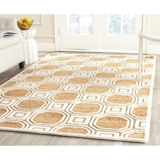 Safavieh Handmade Precious Camel Polyester/ Wool Area Rug (8' x 10')