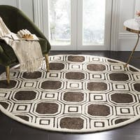 Safavieh Handmade Precious Charcoal Polyester/ Wool Rug - 6' x 6' Round