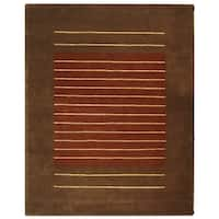 "Safavieh Handmade Soho Rust/ Brown Wool Rug - 9'6"" x 13'6"""
