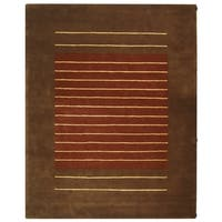 Safavieh Handmade Soho Rust/ Brown Wool Rug - 9'6 x 13'6
