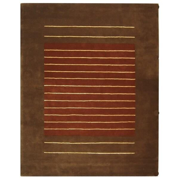 Safavieh Handmade Soho Rust/ Brown Wool Rug - 9'6 x 13'6