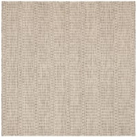 Safavieh Hand-woven Sumak Dark Brown Wool Rug - 6' x 6' Square