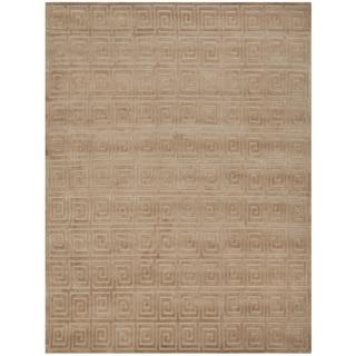 Safavieh Hand-knotted Tibetan Greek Key Camel Wool Rug (10' x 14')