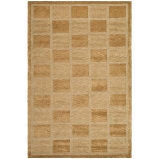 Safavieh Hand-knotted Tibetan Geometric Apricot/ Beige Wool Rug (4' x 6')
