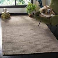 Safavieh Hand-knotted Tibetan Geometric Slate Wool Rug - 5' x 7'6