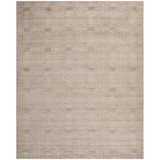 Safavieh Hand-knotted Tibetan Geometric Slate Wool Rug (9' x 12')