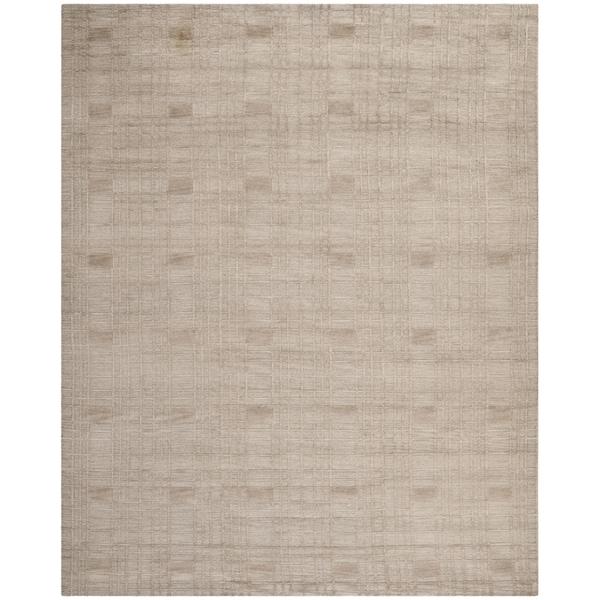 Safavieh Hand-knotted Tibetan Geometric Slate Wool Rug - 9' x 12'